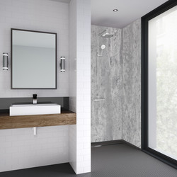Mermaid Mermaid Platinum Stone Laminate Shower Wall Panel Square Edged 2420mm x 900mm - 61678 - from Toolstation