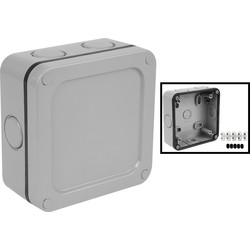 Wessex IP66 Junction Box 115 x 115 x 55mm - 61706 - from Toolstation