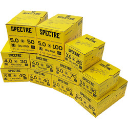 Spectre Spectre Screws Trade Pack  - 61732 - from Toolstation