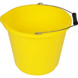 Yellow Builders Bucket 13.5L - 61829 - from Toolstation