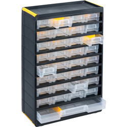 Barton Plastic Small Parts Professional Cabinet 480 x 300 x 135mm - 49 Pieces - 61838 - from Toolstation
