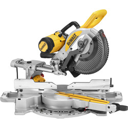 DeWalt DeWalt 250mm Double Bevel Slide Mitre Saw with XPS 110V - 61882 - from Toolstation