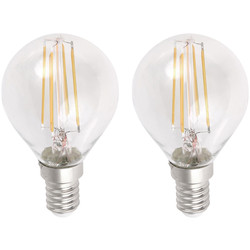 Meridian Lighting LED Filament Globe Lamp 4W SES (E14) 460lm - 61973 - from Toolstation