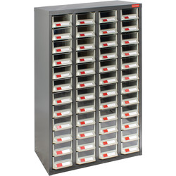 Barton Small Parts Steel Cabinet without Doors 48 Drawers - 937 x 586 x 222mm - 61976 - from Toolstation