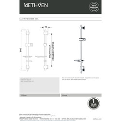 Deva Easy Fit Shower Rail