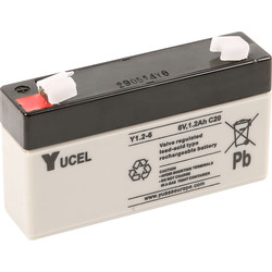 Sealed Lead Acid Battery 6V 1.2Ah 97 x 24 x 58mm