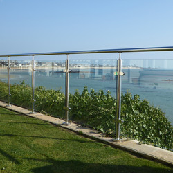 Brighton Balustrade Toughened glass panel