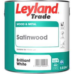 Leyland Trade Leyland Trade Satinwood Paint 2.5L Brilliant White - 62073 - from Toolstation