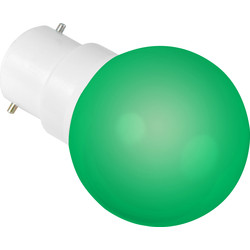 Sylvania Sylvania LED 0.5W Ball Lamp BC (B22d) Green 22lm - 62077 - from Toolstation