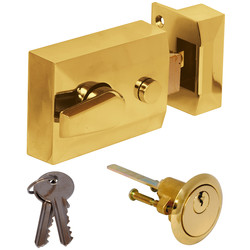 Deadlocking Nightlatch Brass Standard