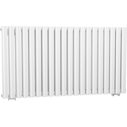 Cassellie Double Panel Horizontal Designer Radiator 633 x 1180mm White 4742Btu - 62139 - from Toolstation