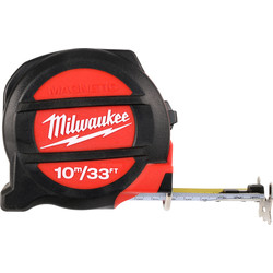 Milwaukee Milwaukee Premium Magnetic Tape Measure 10m/33ft - 62297 - from Toolstation