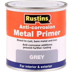 Rustins Anti Corrosive Quick Drying Metal Primer Paint Grey 250ml - 62299 - from Toolstation