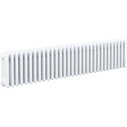 Arlberg Arlberg 4-Column Horizontal Radiator 300 x 1452mm 4433Btu White - 62305 - from Toolstation