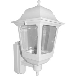 ASD ASD 4 Sided Coach Lantern 100W 100W BC White PIR - 62307 - from Toolstation