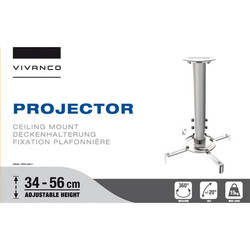 Vivanco Height Adjustable Projector Ceiling Mount Silver