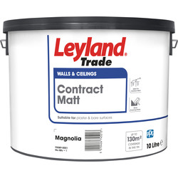 Leyland Trade Contract Matt Emulsion Paint 10L Magnolia