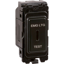 Wessex Wiring Wessex Grid Key Switch  'EMG LTG TEST' Black 20A 2 Way SP - 62430 - from Toolstation