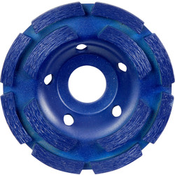 Toolpak Diamond Concrete Grinding Disc 100 x 22mm Double Row - 62515 - from Toolstation