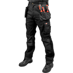 "Lee Cooper Lee Cooper 210 Heavy Duty Holster Pocket Trousers 32"" R Black - 62539 - from Toolstation"