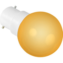 Sylvania Sylvania LED 0.5W Ball Lamp BC (B22d) Orange 22lm - 62560 - from Toolstation