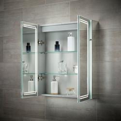 Sensio Harlow Double Door LED Mirror Cabinet