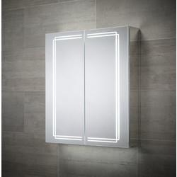 Sensio Sensio Harlow Double Door LED Mirror Cabinet 700 x 600 x 138mm - 62565 - from Toolstation