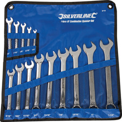 Silverline Combination Spanner Set  - 62634 - from Toolstation