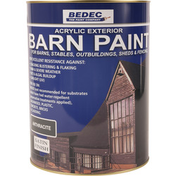 Bedec Bedec Barn Paint Satin Anthracite 5L - 62658 - from Toolstation