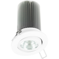 LED Commercial Dimmable Downlight 15W Cool White 1000lm - 62663 - from Toolstation
