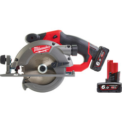 Milwaukee Milwaukee M12CCS44-602X 12V Li-Ion 140mm Cordless Fuel Circular Saw 2 x 6.0Ah - 62665 - from Toolstation