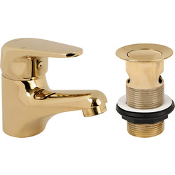 Methven Methven Adore Taps Basin Mixer Gold - 62713 - from Toolstation