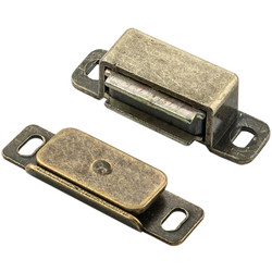 Carlisle Brass Superior Steel Magnetic Catch 46 x 15 x 14mm Florentine Bronze - 62776 - from Toolstation