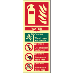 Photoluminescent Fire Extinguisher Sign Water - 62819 - from Toolstation