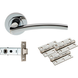 Carlisle Brass Tavira Latch Pack - Ultimate Door Pack Polished Chrome - 62828 - from Toolstation