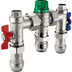Reliance Reliance AUSIMIX 4in1 Thermostatic Mix Valve 15mm - 62831 - from Toolstation