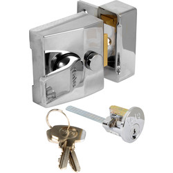 Yale Deadlocking Nightlatch 85 Narrow Chrome