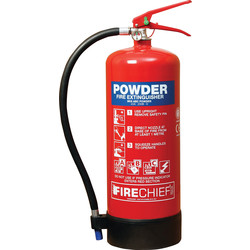 Firechief Firechief Dry Powder Fire Extinguisher 9kg Rating 55A 233B C - 62987 - from Toolstation