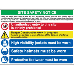 PVC Site Safety Sign Site Safety Notice