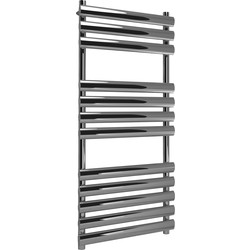 Kudox Kudox Ellipse Designer Chrome Towel Radiator 1100 x 500mm 1068Btu - 63003 - from Toolstation