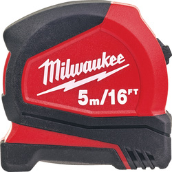 Milwaukee Milwaukee Pro Compact Tape Measure 5m/16ft - 63024 - from Toolstation