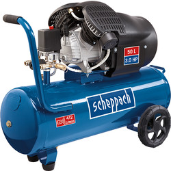 Scheppach Scheppach HC53DC 50L 3.0 HP Pro Twin Cylinder Air Compressor 230V - 63047 - from Toolstation