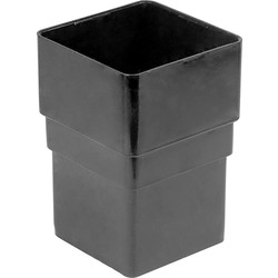Aquaflow 65mm Square Pipe Socket Black - 63059 - from Toolstation