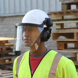 JSP EVO3 Machinery Helmet with Ear Defenders & Visor