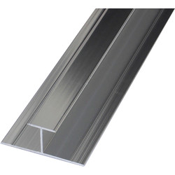 Mermaid Mermaid Laminate Shower Wall Panel Trims Polished Silver H Joint - 63101 - from Toolstation