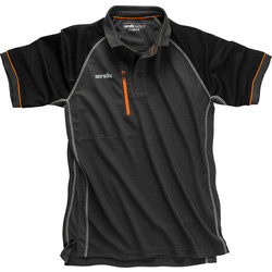 Scruffs Trade Active Polo Small Graphite