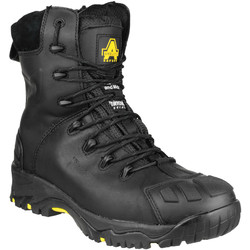 Amblers Safety Amblers FS999 High Leg Safety Boots Black Size 8 - 63177 - from Toolstation