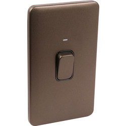 Schneider Schneider Lisse Mocha Bronze Screwless 50A DP Switch 2 Gang LED Indicator - 63202 - from Toolstation