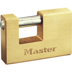 Master Lock Master Lock Brass Rectangular Horizontal Padlock 85 x 12 x 16mm - 63217 - from Toolstation