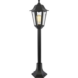 Coast Coast Bianca Black 6 Panel Tall Post Light ES - 63230 - from Toolstation